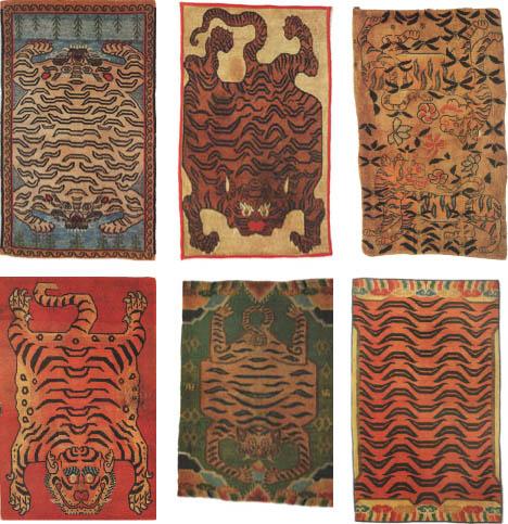 6 Tiger Rugs