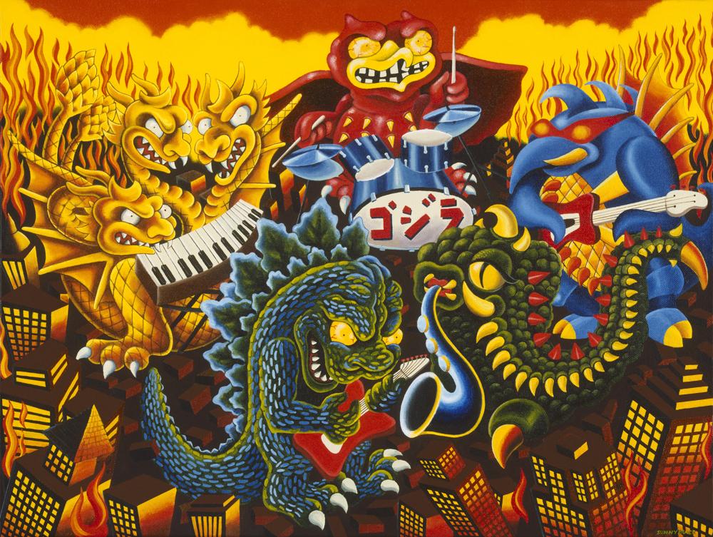 Godzilla Rocks mothra rock n roll band kaiju rodan gamera ghirda
