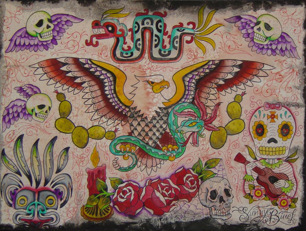 Mexican Tattoo Flash