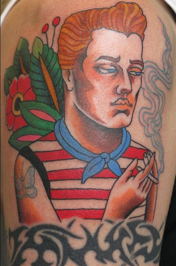 Sailor Smoking Tattoo