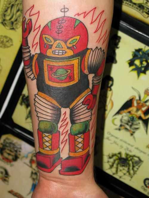 Luchador Robot Tattoo