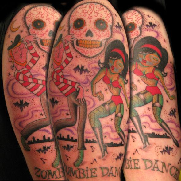 Zombie Dance Tattoo