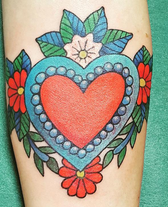 Milagros Heart Tattoo