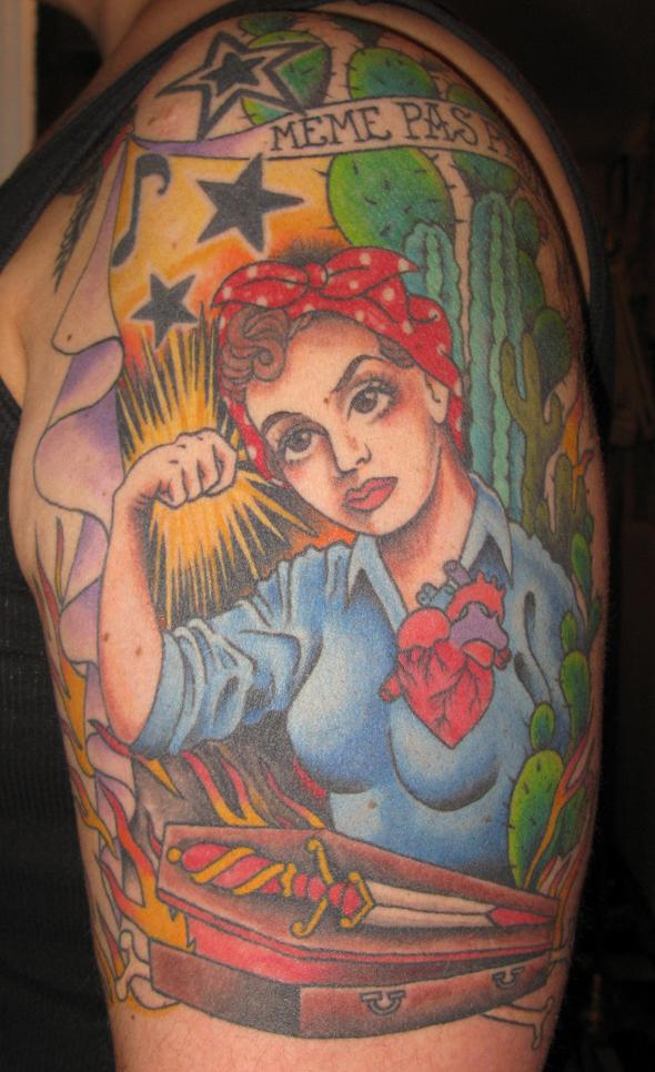 Meme Pas Peur rosie the riveter tattoo