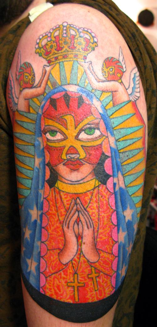 Luchadora Madonna Tattoo