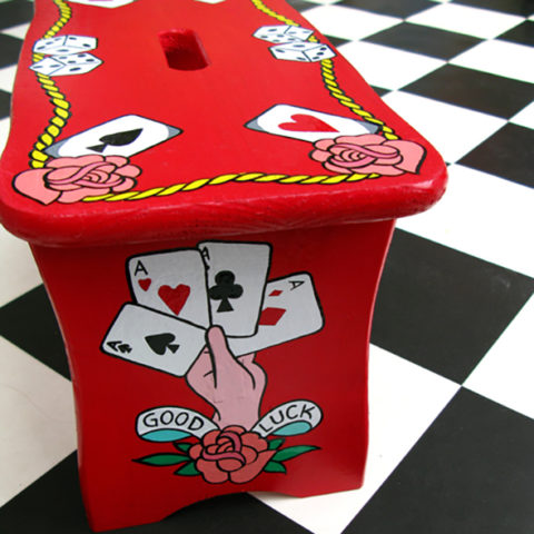 Tattoo Table hand painted furniture